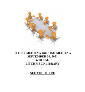 Title One and PTSO Meeting